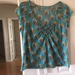 new york and company short sleeve top L